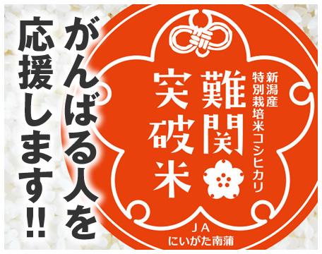 新潟産特別栽培米コシヒカリ 難関突破米 がんばる人を応援します!!