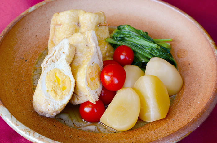 油揚げと野菜の煮物